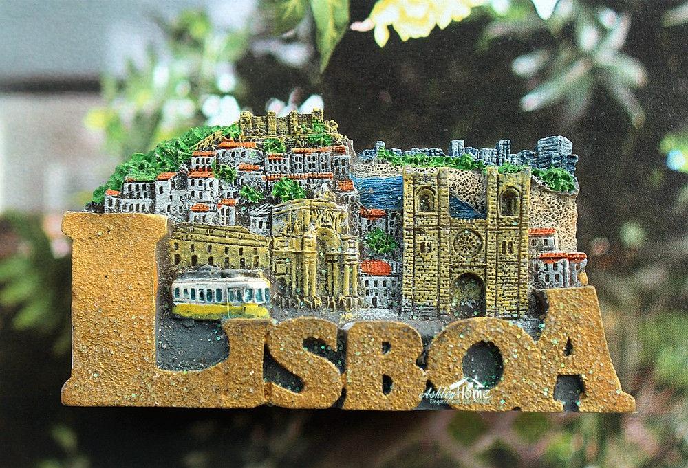 Portugal LISBOA Lisbon Tourist Travel Souvenir 3D Resin Decorative Fridge Magnet Craft GIFT IDEA
