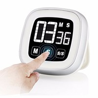 Large LCD Screen Kitchen Timer Touch Type Kitchen Timer Digital Alarm Clock Cooking Timer Free Shipping