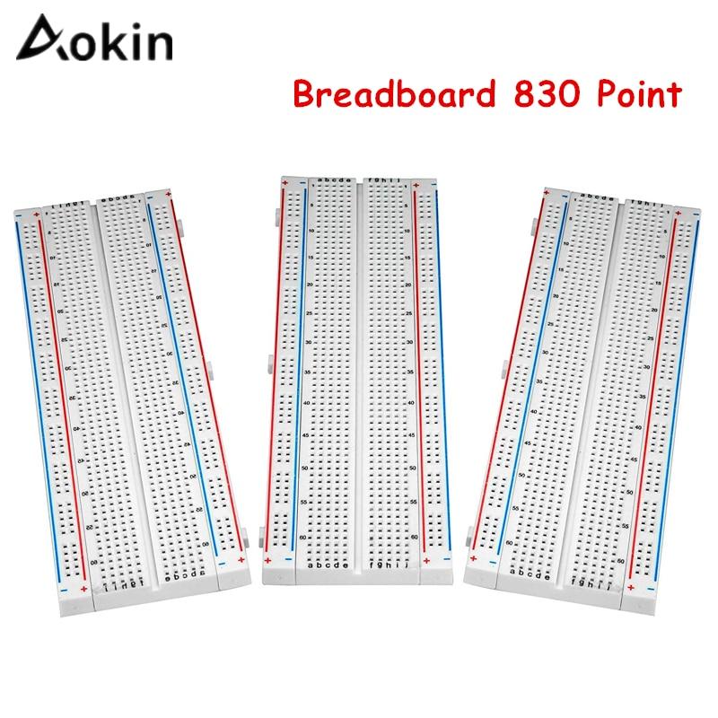 Breadboard 830 Point Solderless PCB Bread Board For DIY KIT Protoboard PCB Board Test Circuit Board For Arduino/Raspberry Pi