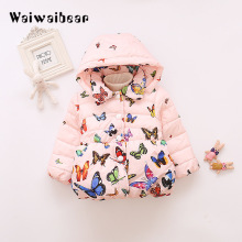 цена Children Kids Outerwear Down Coats Winter New Baby Girls Jackets Coat Infant Warm Baby Parkas Thick Kids Hooded Clothes онлайн в 2017 году