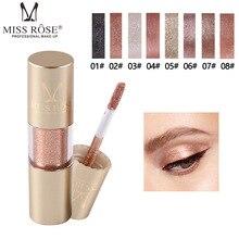 MISS ROSE 8 Color Metal Eyeshadow Shimmer Warm Color Waterproof Shine Single Eye Shadow Liquid Matte Makeup Shadow TSLM2