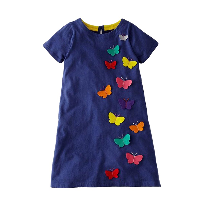 Retail Summer Girls Dress Baby Butterfly Clothes Baby Kids Dresses for Girls Costume Children Princess Dresses JM6808