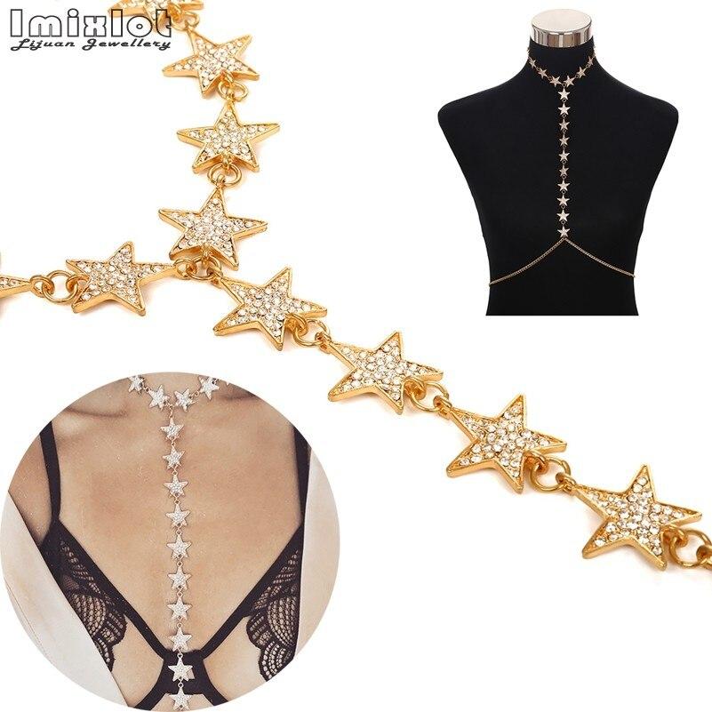 Imixlot Fashion Luxury Full Rhinestone Star Accessories Body Chain New  Bijoux Maxi Sexy Punk Long Pendant Body Chain a42ed3653faf