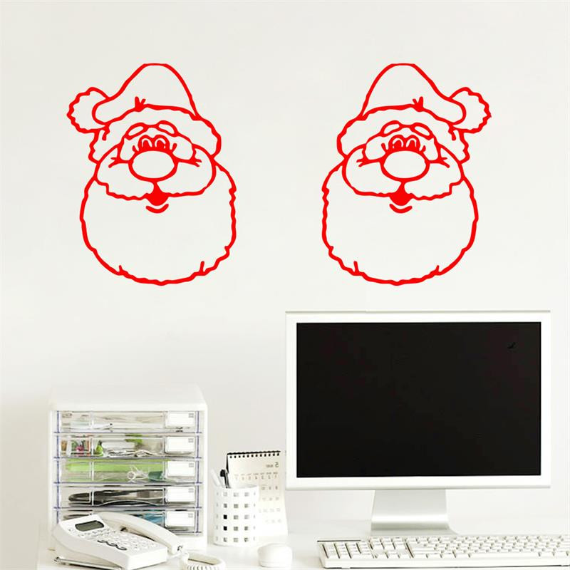 decoration new diy merry christmas santa claus wall sticker glass window sticker new year party decoration - Party Decoration Stores