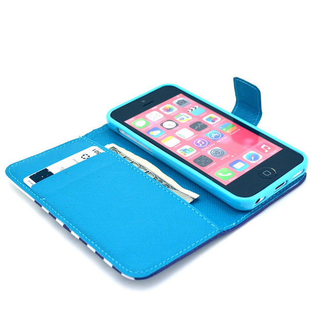 Cases for apple iPhone 5C iPhone 5 C Phone Cover + Card Holder