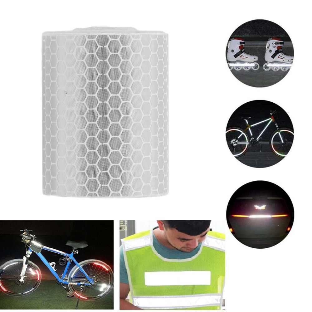 Waterproof Reflective Safety Warning Tapes Film Sticker Stickers Car Truck Motorcycle Cycling Conspicuity Reflective Tape 5cmx3m