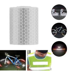 Водонепроницаемый светоотражающие безопасности предупреждающие ленты фильм Стикеры s автомобиля Грузовик Мотоцикл Велоспорт