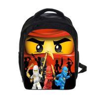 2018 Lego Backpacks Gifts For Boys Girls Kids Cartoon Movie Lego Ninjago Pattern School Bag With