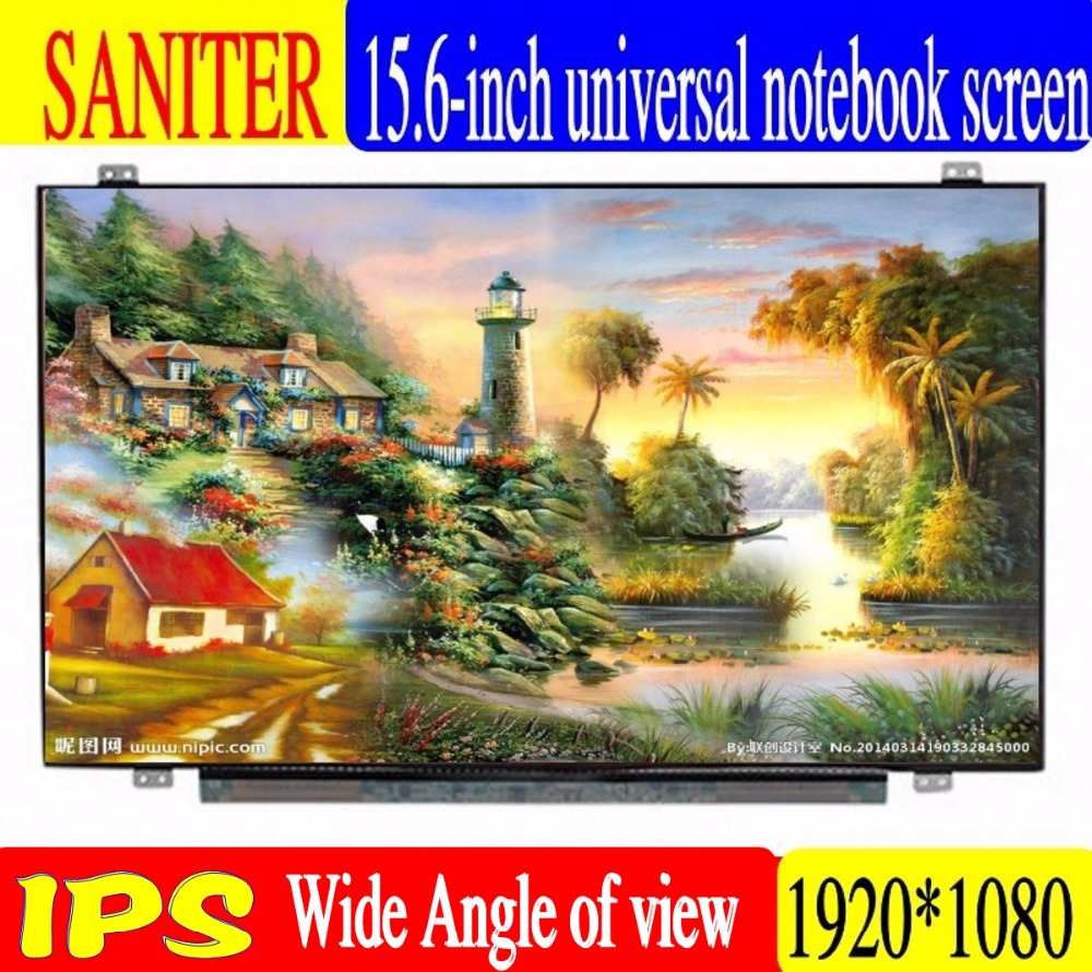SANITER Apply to B156HAN01.2 NV156FHM-N43 LTN156HL01 LTN156HL02 LP156WF6, SPB1 72% NTSC  FHD 1920x1080  laptop 15.6 inch screen
