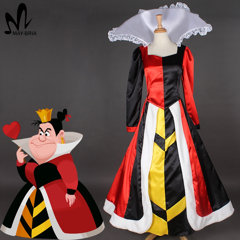 halloween costumes adult cosplay Alice In Wonderland queen of hearts cosplay costume Fancy queen of hearts dress costume halloween queen cosplay dress