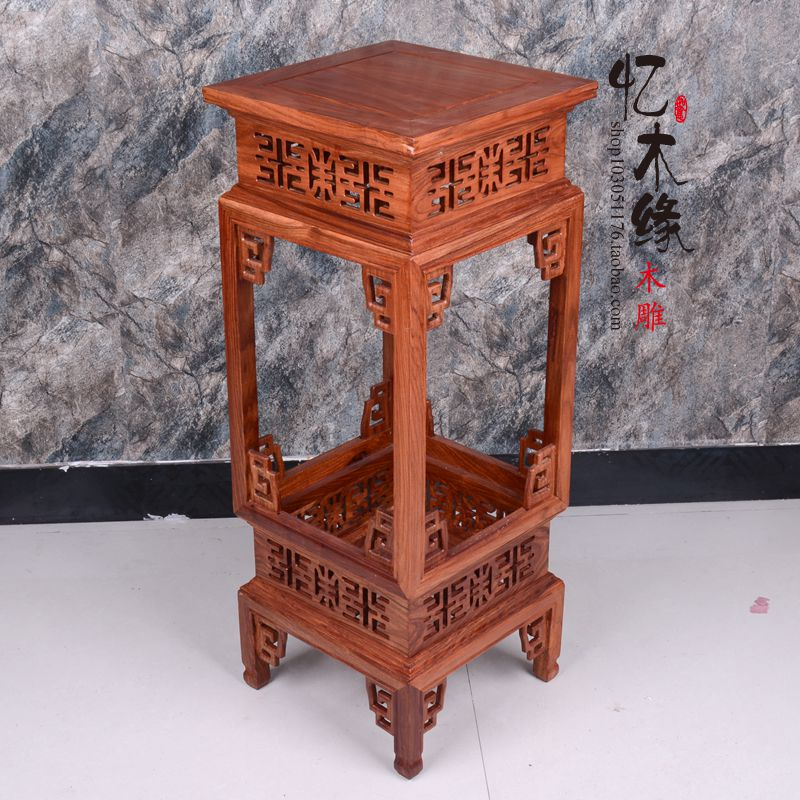 Dongyang mahogany wood floor a few pear flower bonsai in Ming and Qing Dynasties Chinese antique interior shelf rack room lang qing court iron creative flower green dill multilayer wooden living room interior floor spider showy flower pots