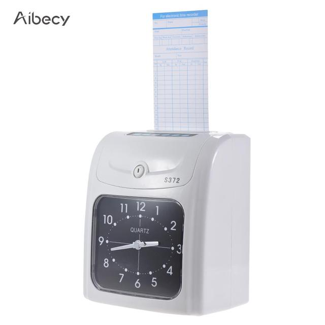 electronic attendance machine time attendance employee time clock recorder attendance time card machine for office factory - Time Card Machine