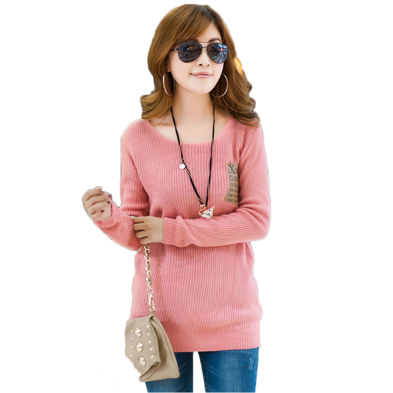 O-Neck Tricotado Knitted Sweaters Women Fashion Pullovers Long Sleeve Winter Thicken Tricot Pullover And Women Sweaters