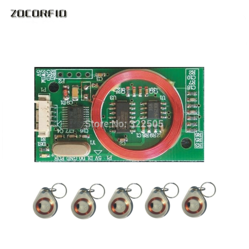 7941E  125KHZ RFID  Embedded  Elevator /access Control Read Card Module /RFID Reader  WG26/34 Out Put +5 Pcs Cards