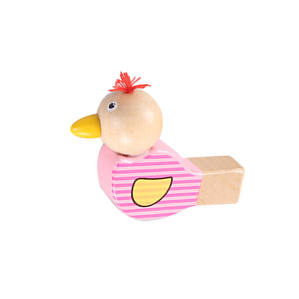 Wooden Animal Bird Whistle Kids Musical Instrument Educational Whistle Toy New