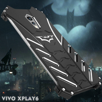 Luxury R just Batman Design Aluminum Armour Metal Cases For Vivo X play 5 6 Case Anti knock Kickstand Protection Back Cover