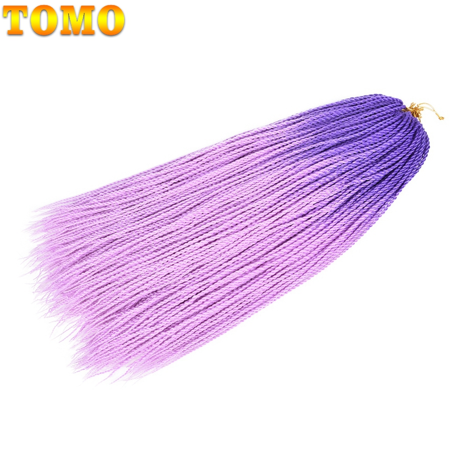 TOMO 24Inch Colored Crochet Braids Senegalese Twist Hair 30Roots Synthetic kankelon Braiding Hair Ombre Hair Extensions