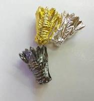 50 cái Hàng Loạt Brass charm kết nối 8-28 mét Panther Head Hạt Trắng Bạc Vàng Hồng Hỗn Hợp màu CZ Bead, Đen Gunmetal drangon ca