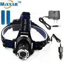 ZK45 3800LM Cree XM-L T6 Led Headlamp Zoomable Headlight Waterproof Head Torch flashlight Head lamp Fishing Hunting Light