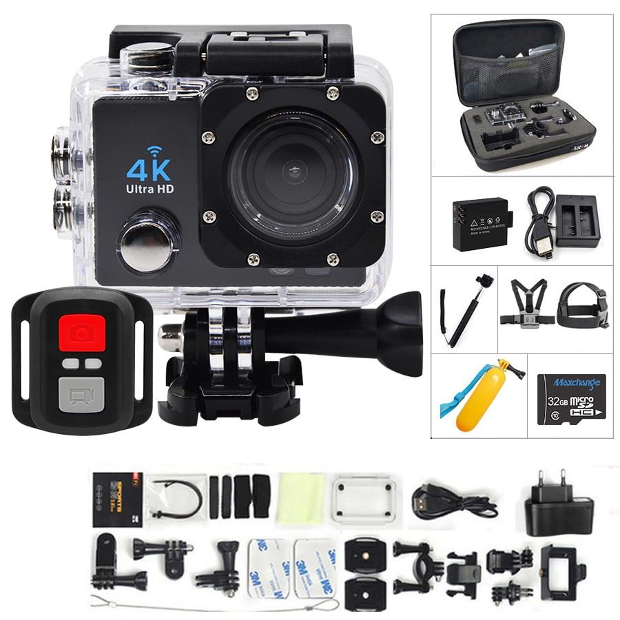 Caméra d'action 4 K Ultra HD WIFI gopro hero 4 Stlye 1080 P/30fps 2.0 LCD 170 lentille plongée étanche 30 M DV casque caméra de sport Cam