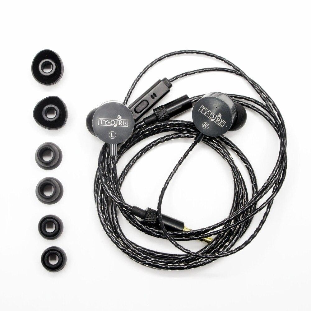 2017 Newest TY-DJRE Flat Head Double Dynamic Earbud Earphone HIFI Earbud Earphone HIFI Fever earpiece In-ea Earphone Bass Earbud