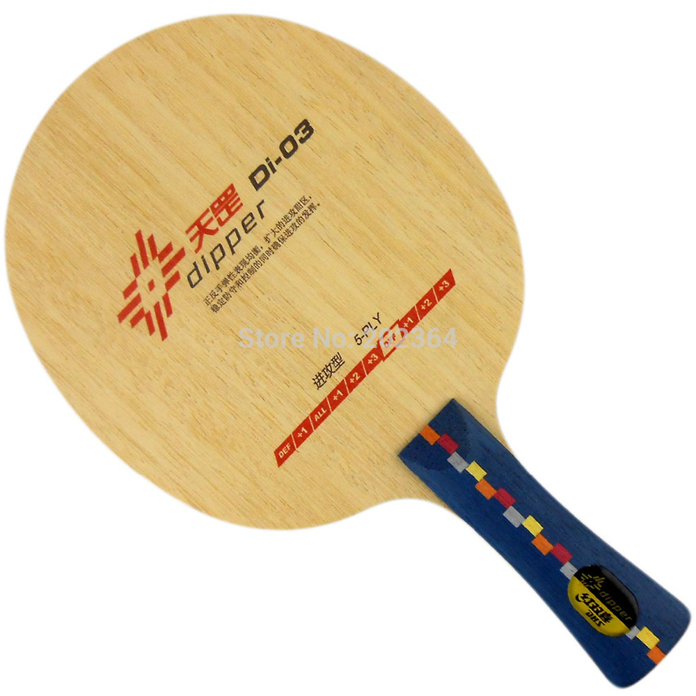 DHS Dipper Di-03 (Di 03, Di03) OFF Table Tennis Blade (Shakehand) for PingPong Racket dhs tg 506 tg506 tg 506 7 ply off table tennis pingpong blade 2015 the new listing factory direct selling
