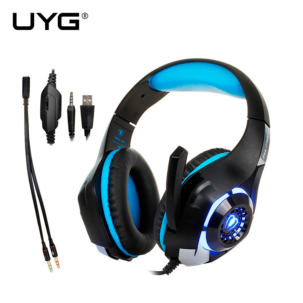 UYG GM-1 Gaming headset pc Gamer Auriculares Auricular auriculares Auriculares a