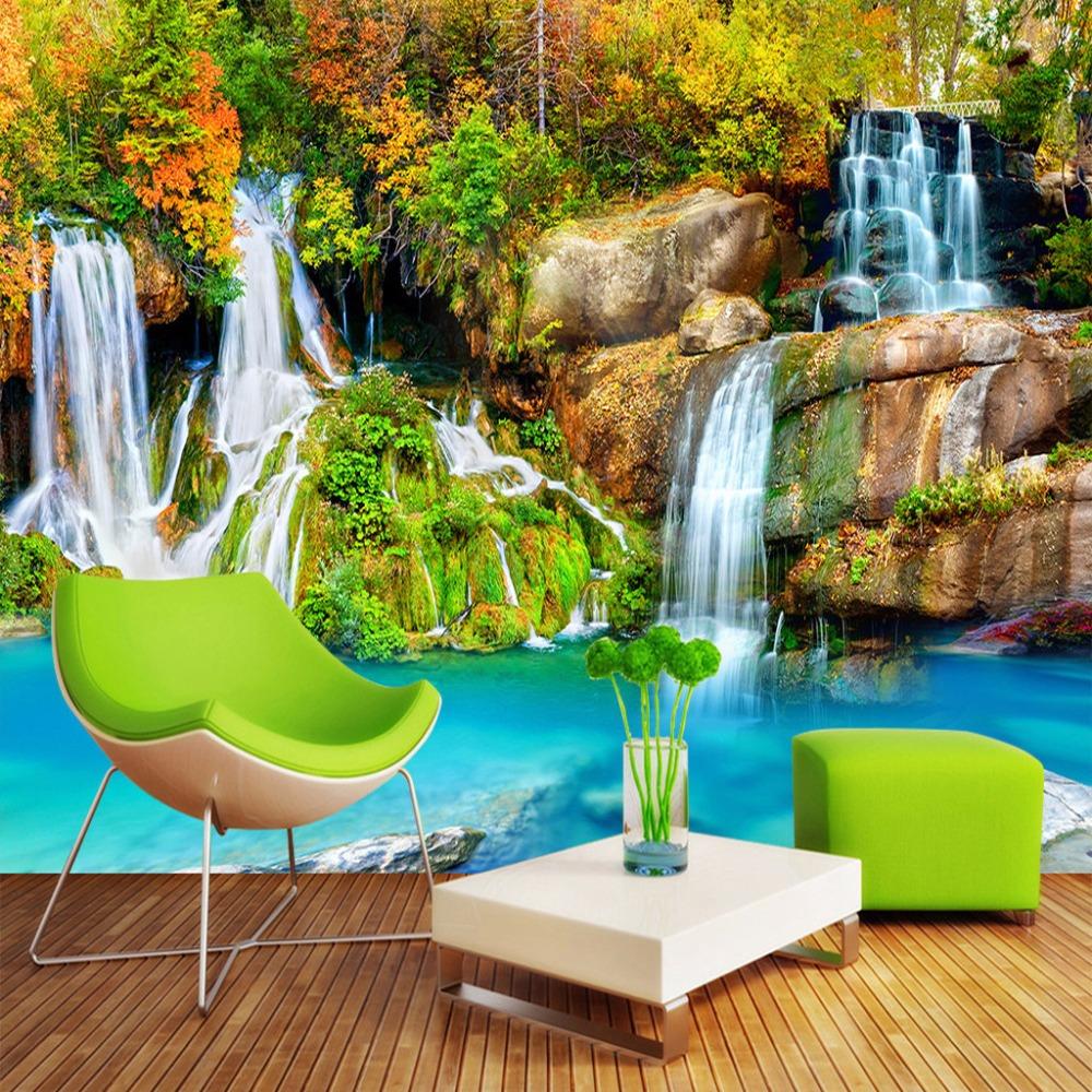 Wasserfall Wandbild Tapete-Kaufen billigWasserfall Wandbild Tapete ...