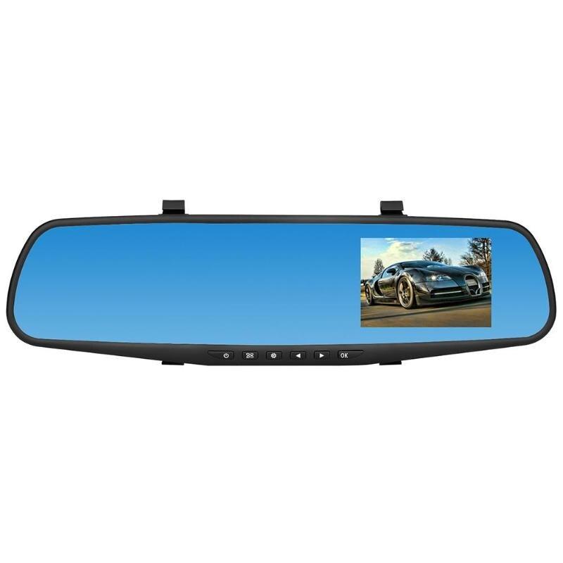 Car DVR Camera 3.8in Dual Lens HD 1080P Car Rearview Mirror DVR Camera G-sensor Video Recorder Dash Cam цена