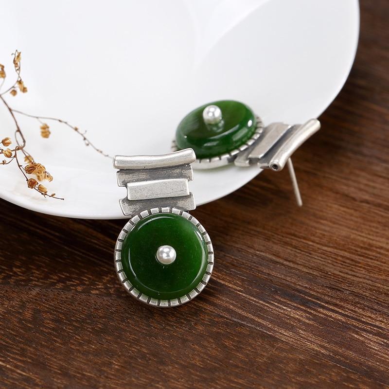 Boucles d'oreilles en argent Sterling 925 avec pierres précieuses naturelles boucles d'oreilles pour femmes accessoires de bijoux Oorbellen Voor Vrouwen