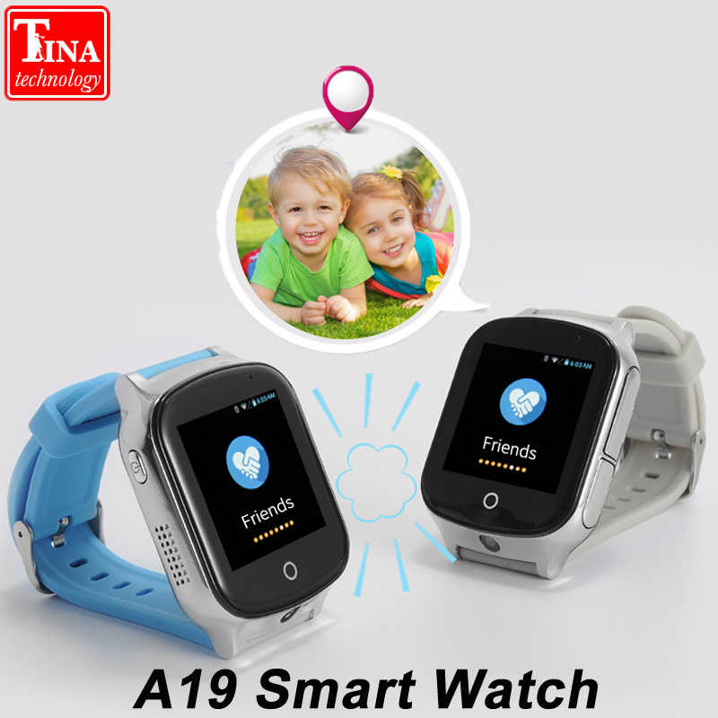 3G Smart Watch A19 for Kids People Elderly GPS WIFI SOS LBS GPS Watch Camera Locate Finder emergency call 3G child smartwatch