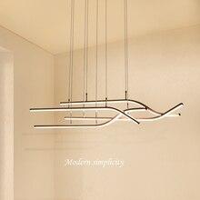 Wooights Modern Wave Pendant Chandelier Lighting for Office Dining Living room Kitchen 110V 220V Lustre Cord hanging