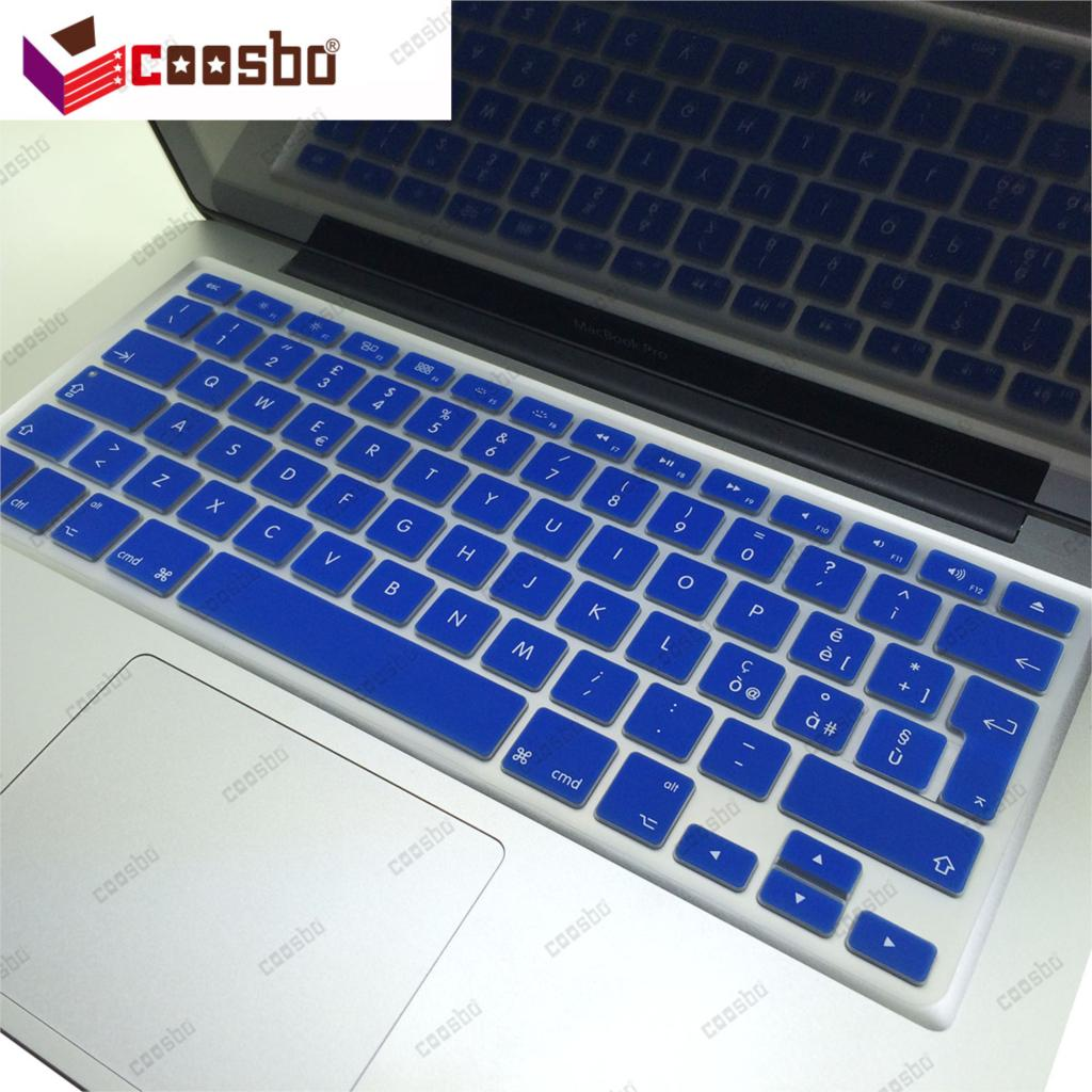 Coosbo - 50 pcs gros italie italien Silicone Keyboard Cover peau de Protection pour Mac Macbook Air Pro Retina G6 13 15 17