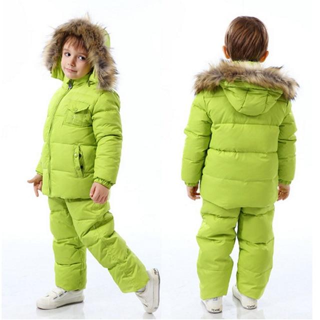 fb38fdf7d Children Winter Down Jacket Boys Warm Outerwear Coats Girls Clothing ...