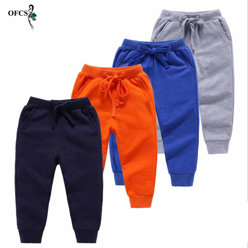 Retail Pants For Boy Candy Color Sports Boys Pants Spring Sweatpants For Boys Autumn Teenage Children Active Clothing 2-12 Years