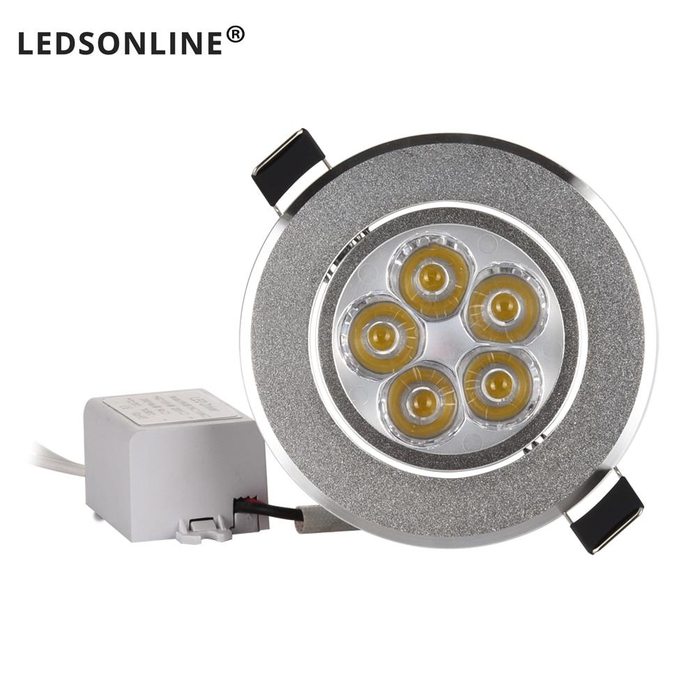 3W 4W 5W AC85V-265V 110V 220V LED Ceiling Downlight Recessed LED lamp Spot light + LED Driver For Home Lighting Silver Daylight 2 5 3w 300lm 4500k 3 led warm white light ceiling lamp w led driver silver 85 277v