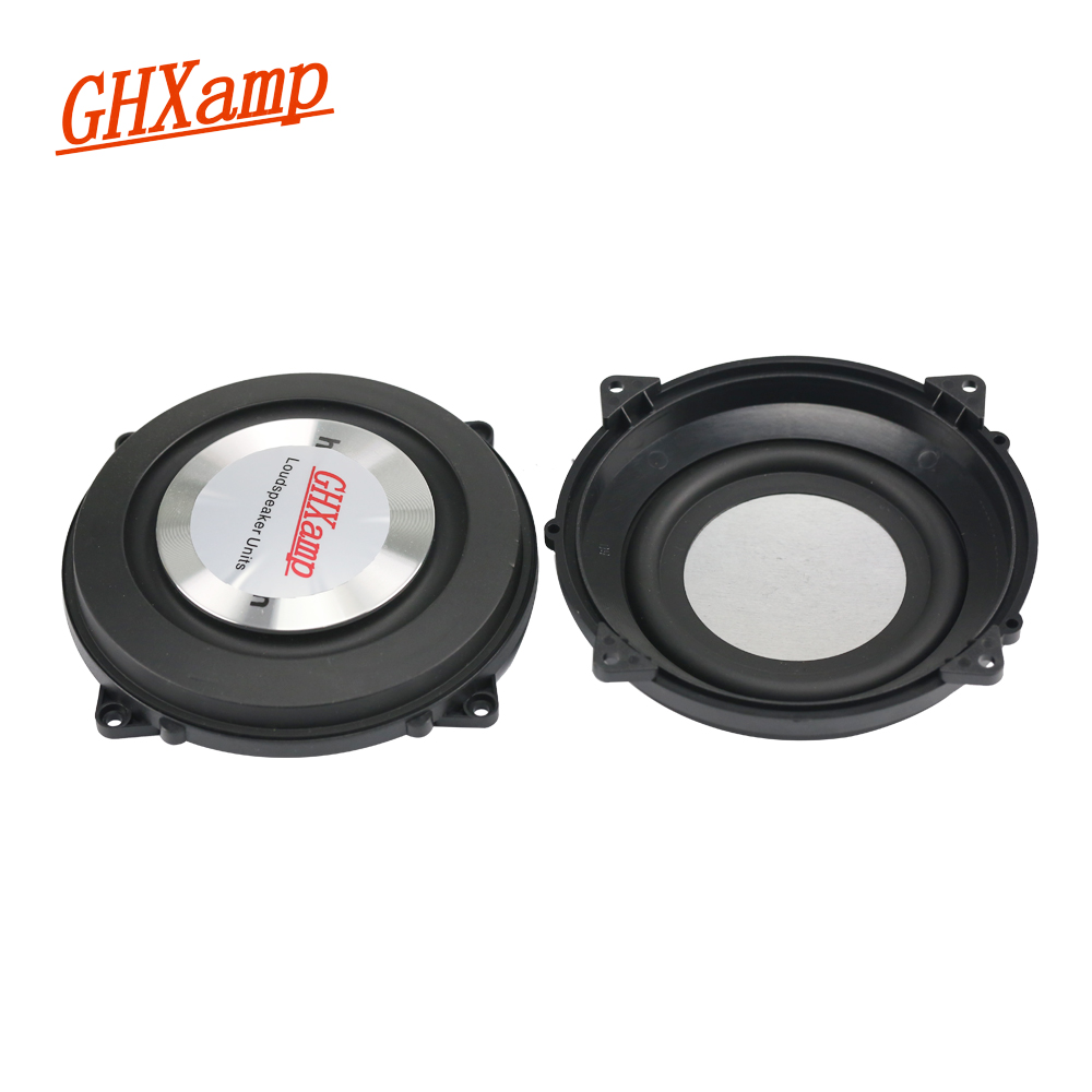 GHXAMP 4 Inch 120MM Bass Radiator Passive Radiator Speaker Aluminum Brushed Metal For Low Frequency Woofer Speaker DIY 2PCS