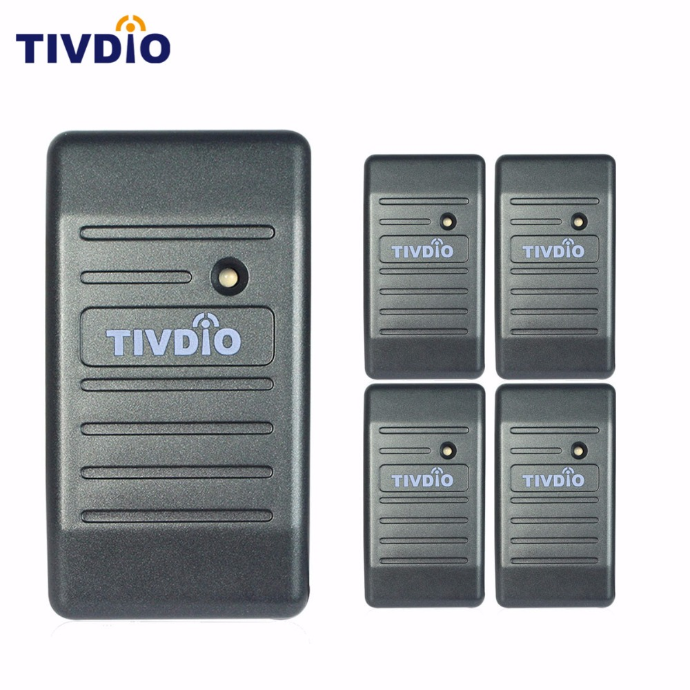 5 pcs TIVDIO Card Reader Wiegand 26/34 Access Control Proximity EM-ID 125KHz Reader & ABS Shell Waterproof Home Seccurity F9505H