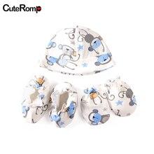 3 шт перчатка для младенца анти-захватывающие перчатки+ шапка+ чехол для ног защита на Кроватку Новорожденного лица Хлопок Анти-Царапины перчатки Новорожденные варежки