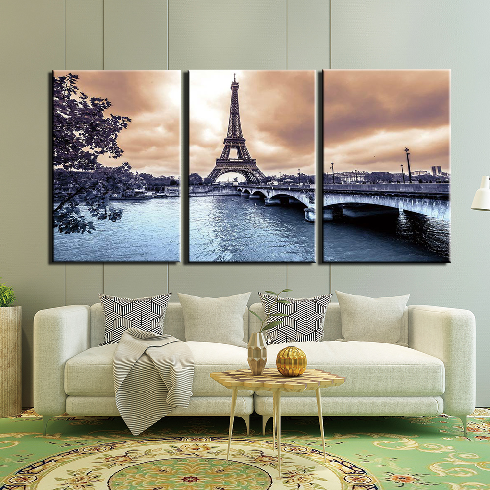 3 Piece Canvas Art Canvas Painting Abstract Tower Wall Decorations For Home Art Print Living Room Decor Painting Calligraphy Aliexpress