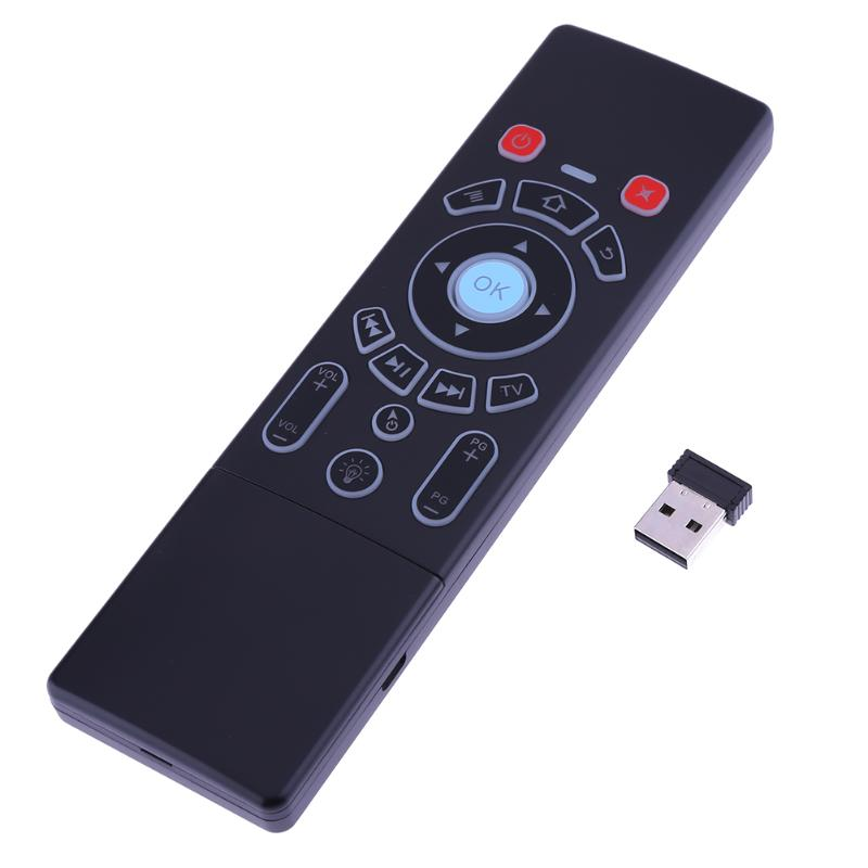 2 in 1 Double Face Fly Air Mouse Controller Wireless Backlight Keyboard Remote Control For PC Android TV BOX Multi Touch 63 Keys