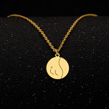 Gold Color Round Coin Necklaces & Pendants For Women Simple Portrait Dollar Charm Necklace Dainty Gifts Body