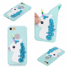 wholesale 50pcs/lot for iphne 7 7plus 5 6 6S 6plus 6Splus 8 case Unicorn Diamond soft TPU glitter cases Back cover