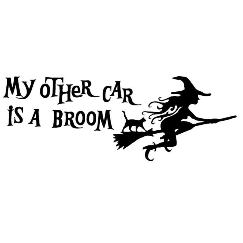 CK2354#10*28cm My Other Car Is A Broom Funny Car Sticker Vinyl Decal Silver/black Car Auto Stickers For Car Bumper Window