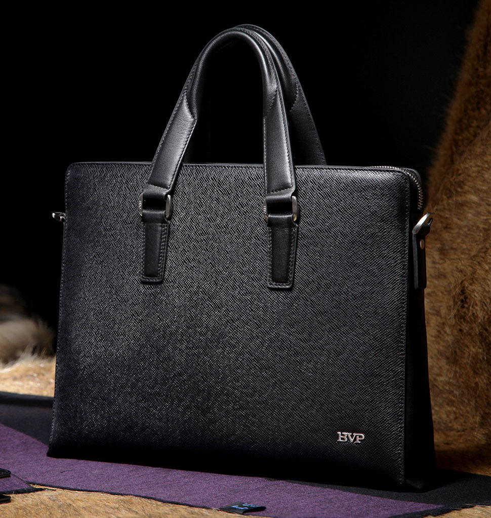 BVP Free -EMS  Men's Genuine Leather Vintage Frmal Business Lawyer Briefcase Messenger Shoulder Attache Portfolio Tote 15
