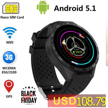 KingWear KW88 Android 5.1 Smart Watch Phone MTK6580 Quad Core 1.3GHZ ROM 4GB + RAM 512MB 1.39 inch 400*400 Screen with 2.0MP