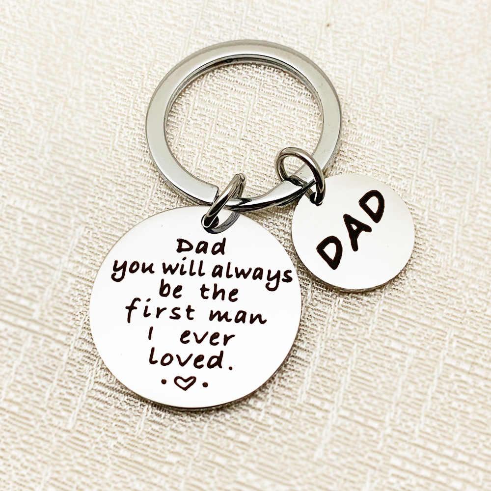 Подарки на день отца брелок из нержавеющей стали Шарм отец и дочь брелки семья Jewewlry подарок для папы