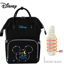 Disney Large Capacity USB Waterproof Diaper Bags Oxford Cloth Insulation Bags Bottle Feeding Storage Bag Mummy Travel Backpack disney new upgraded version mickey and minnie insulation bag top capacity baby feeding bottle bags diaper bags oxford usb bags