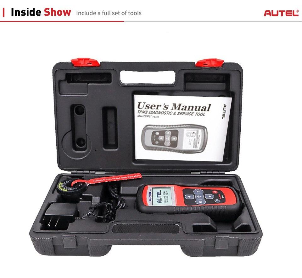 Image 5 - Autel Maxitpms TS401 TPMS Diagnostic Tool Receive 315mhz 433mhz Sensor Signals Tyre Pressure Tester Activate Relearn Sensor Tool on