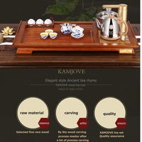 Free Shipping KAMJOVE R 168 Ancient Solid Wood Tea Tray Wood Carving Make Tea Machine Intelligent